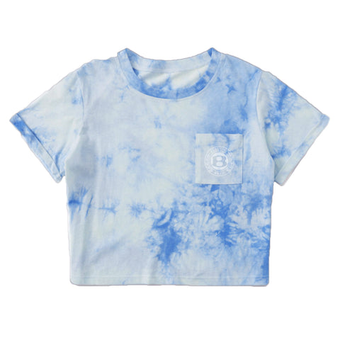 "BossLife ""Circle B"" Women's Crop top - Cloud/White"