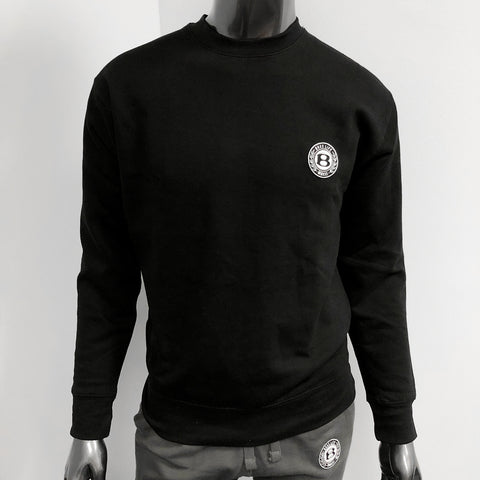 "BossLife ""Circle B"" Pullover Crewneck -Black/Patch"