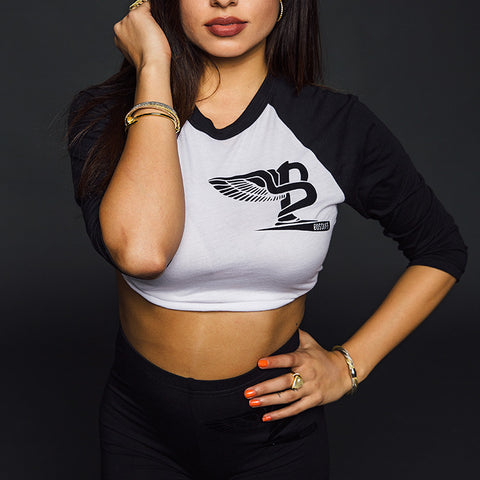 "BossLife ""Flying B"" Women's Baseball - Black/White"