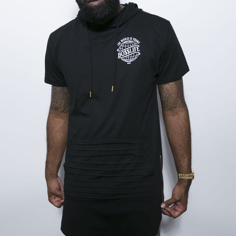 "BossLife ""World"" Elongated Tee - Black"