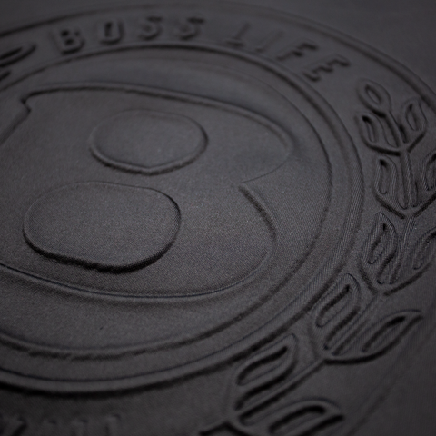"BossLife ""Circle B"" Embossed Crewneck -Black"