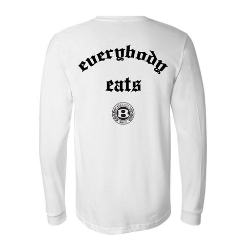 "BossLife ""Everybody"" Long Sleeve - White/Black"