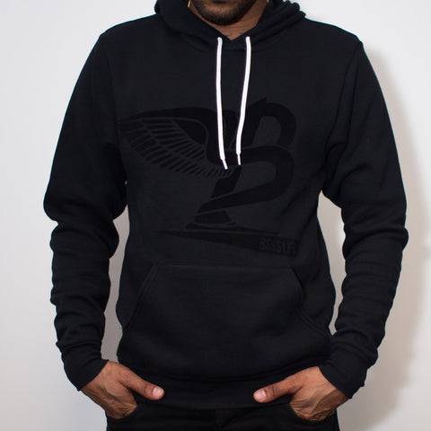"BossLife ""Flying B"" Hoody - Black/Black Flock"