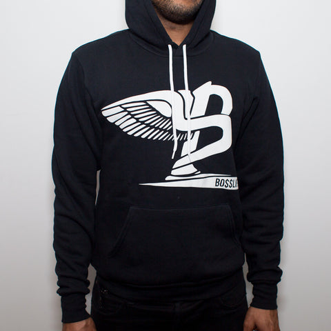 "BossLife ""Flying B"" Hoody - Black/White Flock"