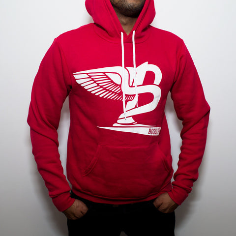 "BossLife ""Flying B"" Hoody - Red/White Flock"