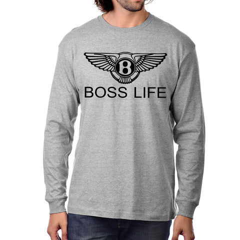 "BossLife ""Wings"" Long Sleeve - Grey/Black"