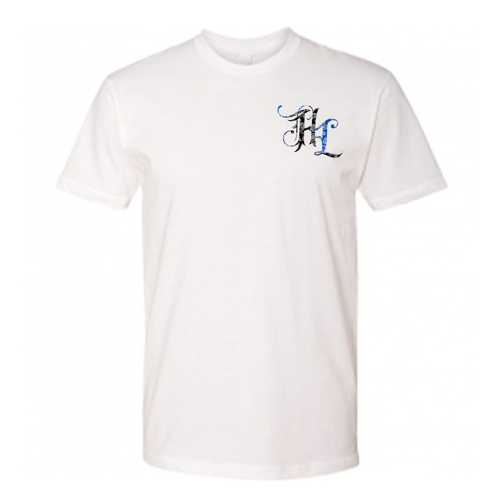 "HoggLife ""Paisley"" Tee - White/Black/Navy"