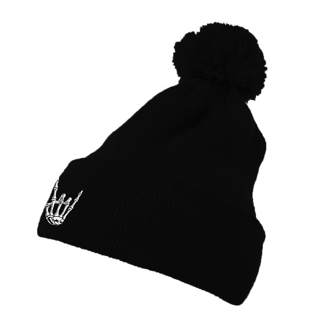 HoggLife Pom Beanie - Black/White