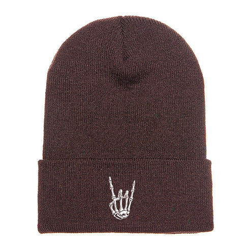 HoggLife Beanie - Brown/White