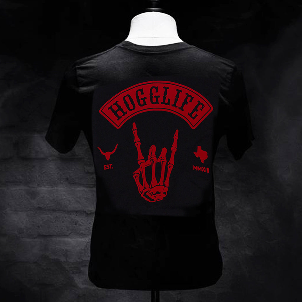 HoggLife Tee - Black/Red - BossLifeWorld  - 1