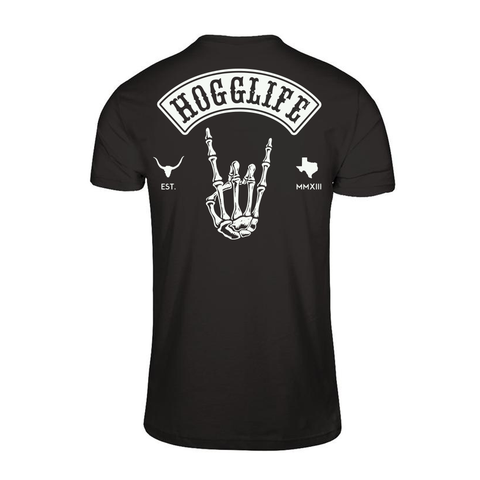 "HoggLife ""Skull"" Tee - Black/White"