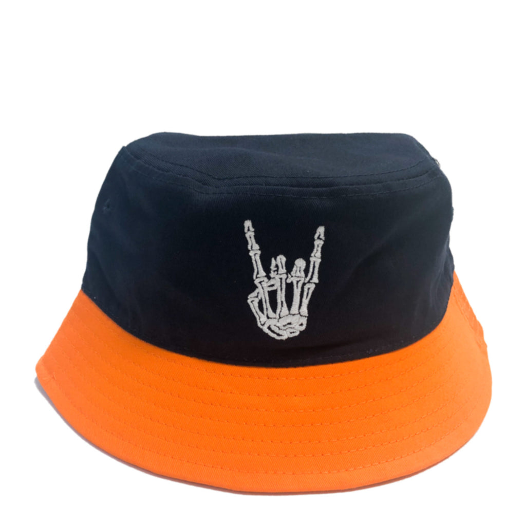 HoggLife Bucket Hat - Navy/Orange/White