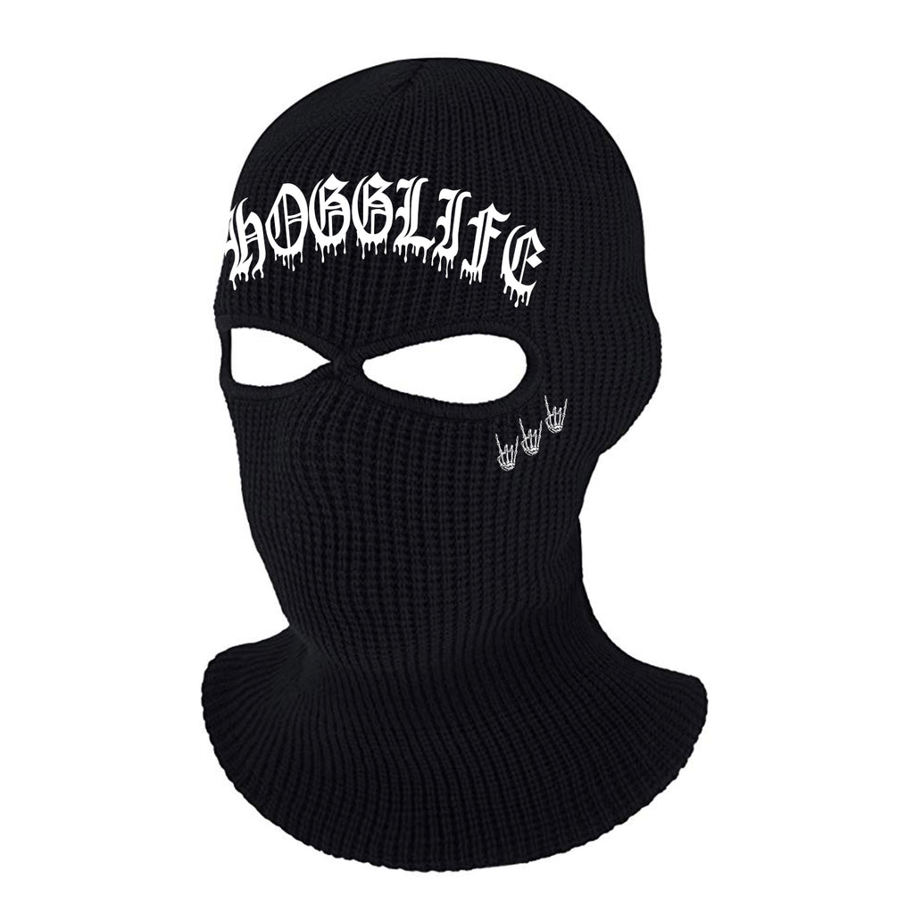 "HoggLife ""Drip"" Ski Mask - Black/White"