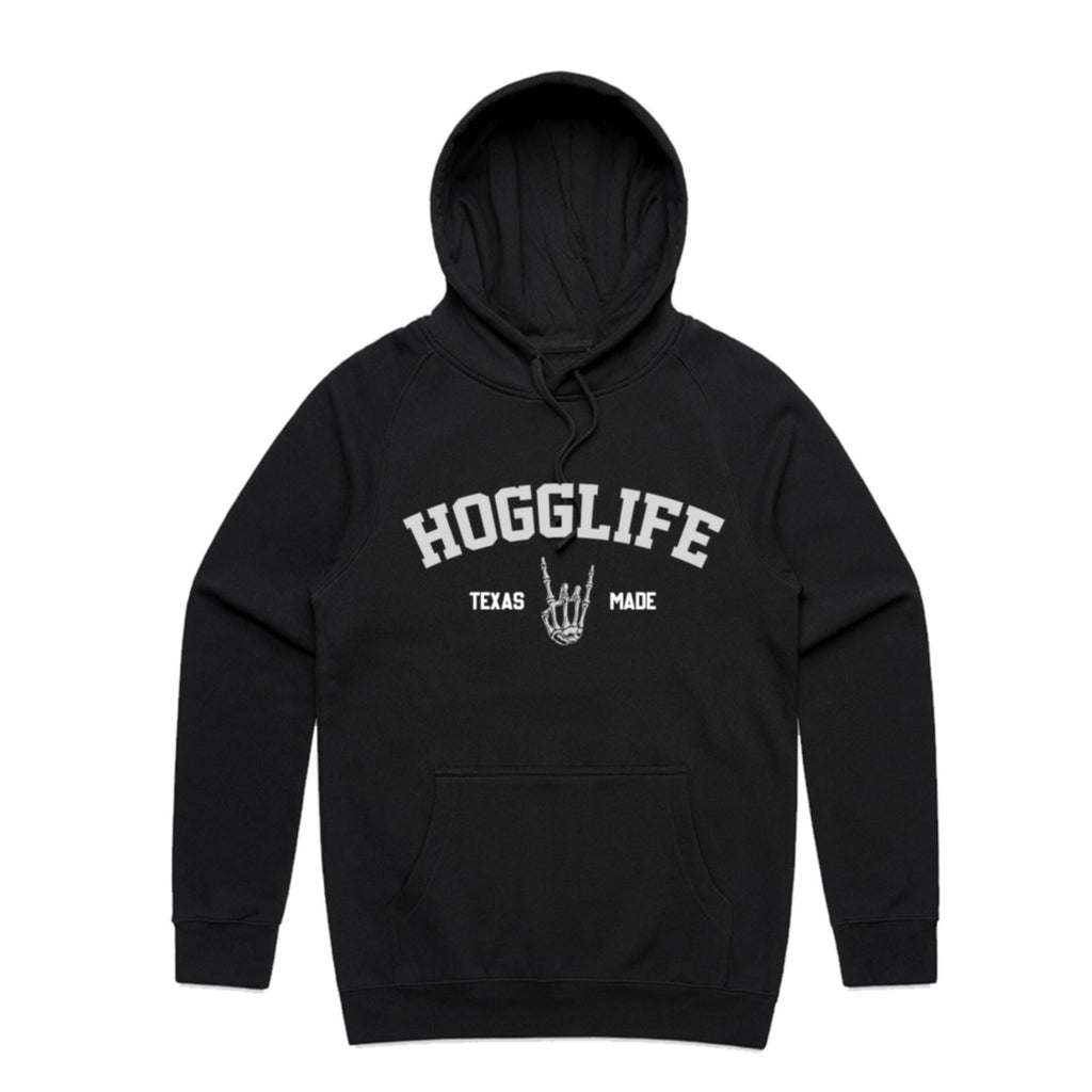 "HoggLife ""Texas""Hoodie - Black/Grey"