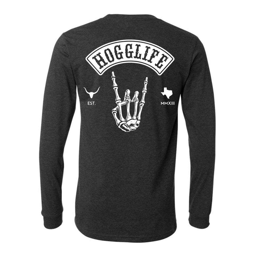 HoggLife Long Sleeve - Dark Grey/White