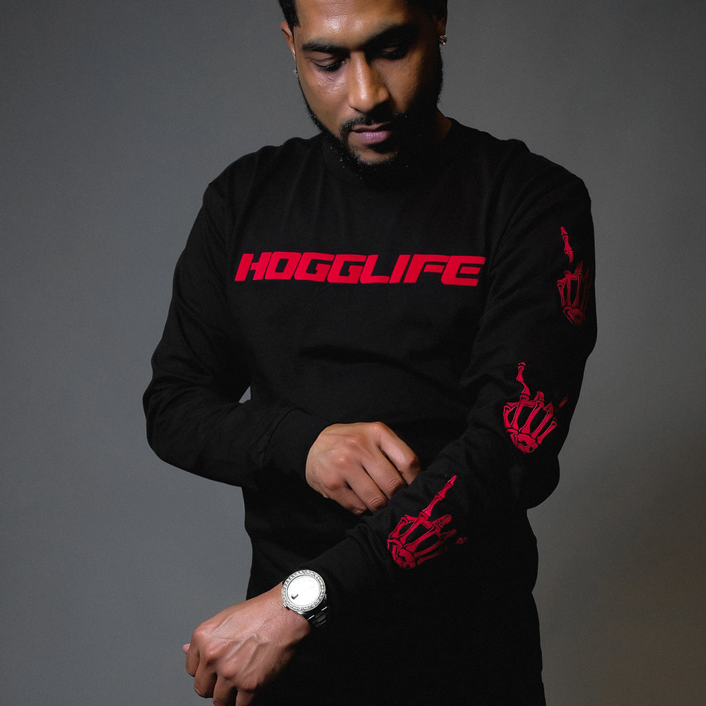 "HoggLife ""Motor"" Long Sleeve - Black/Red"
