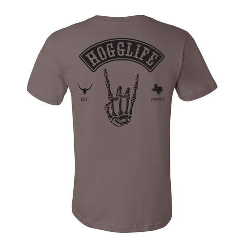 HoggLife Tee - Pebble/Black