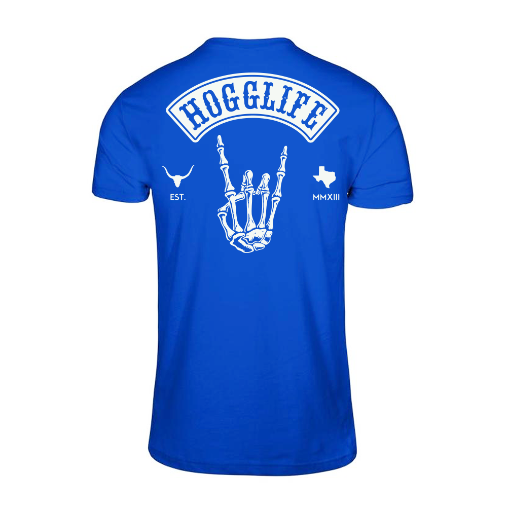 "HoggLife ""Skull"" Tee - Royal/White"