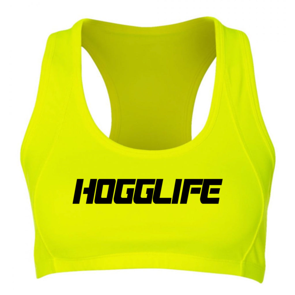 "HoggLife ""Motor"" Sports Bra - Neon/Black"