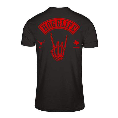 "HoggLife ""Skull""  Tee - Black/Red"