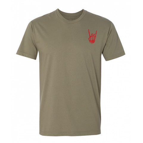 HoggLife Tee - Olive/Red