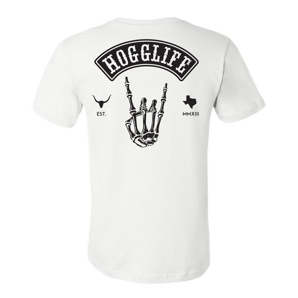"HoggLife ""Skull"" Tee - White/Black"