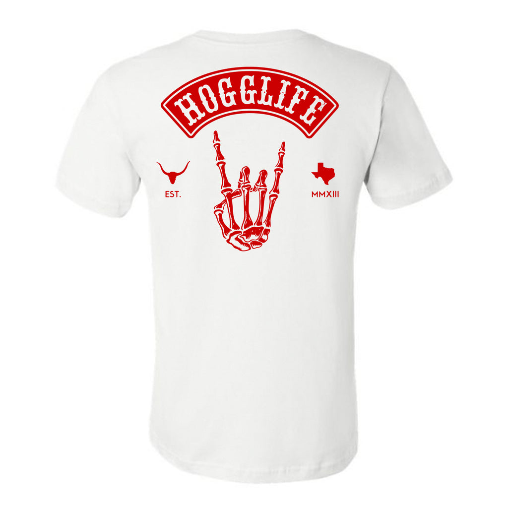 "HoggLife ""Skull"" Tee - White/Red"