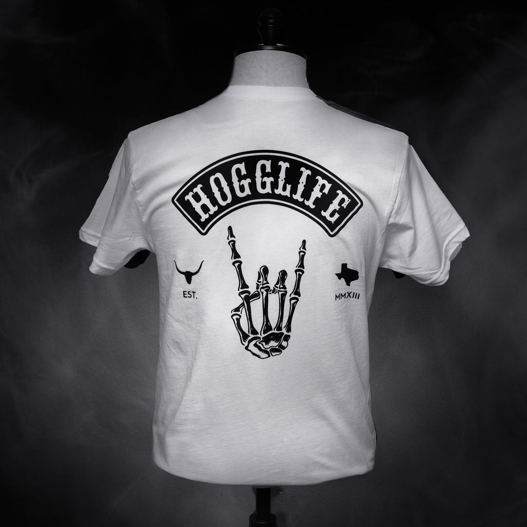 HoggLife Tee - White/Black - BossLifeWorld