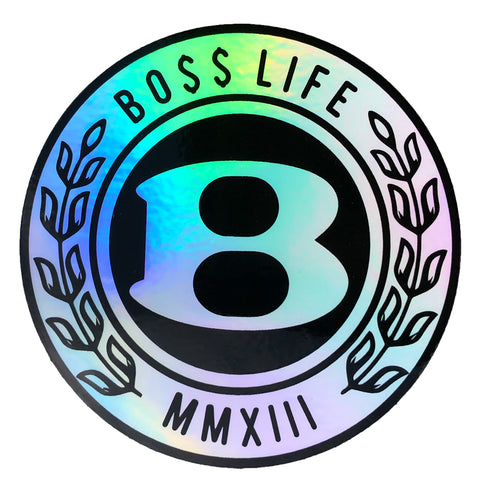 "BossLife ""Circle B"" Sticker - Holographic"