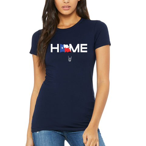 "HoggLife ""Home"" Women's Tee - Navy/Multi"