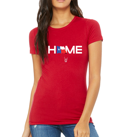 "HoggLife ""Home"" Women's Tee - Red/Multi"
