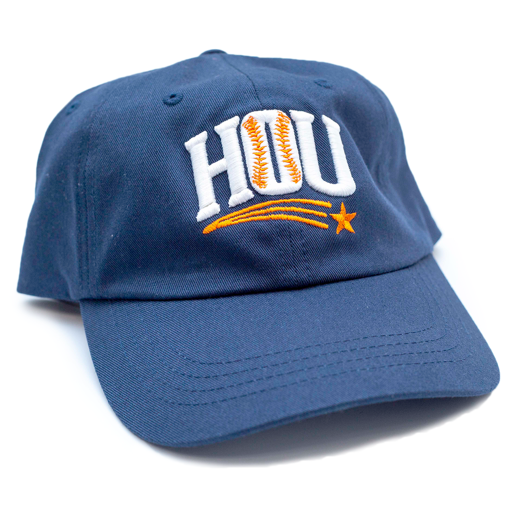 "HoggLife ""HOU"" Dad Hat - Navy/White/Orange"