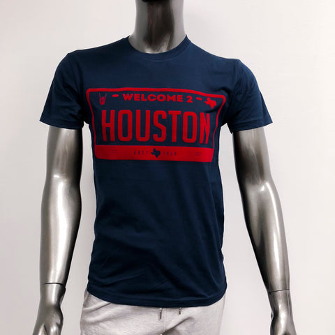 "HoggLife ""Welcome 2 Houston"" Tee - Navy/Red"