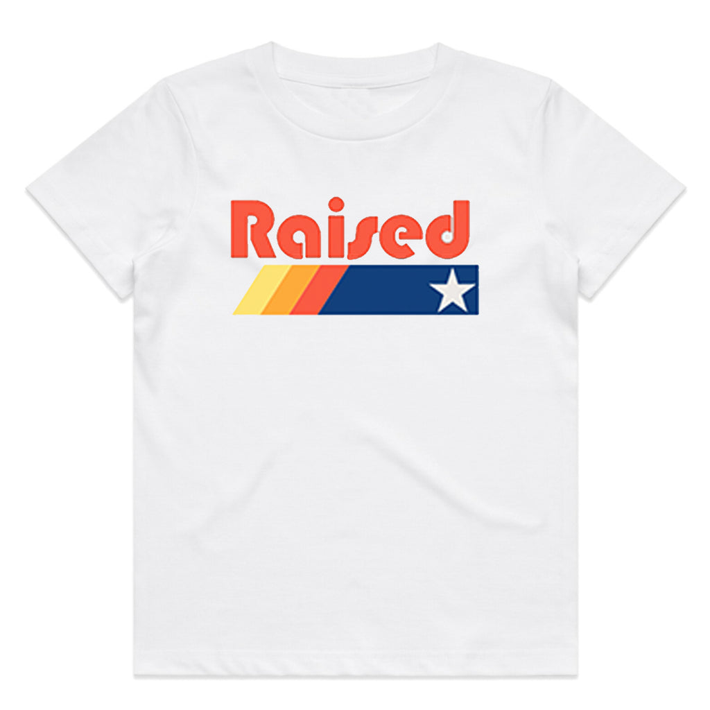 "HoggLife ""Raised"" Kids Tee - White"