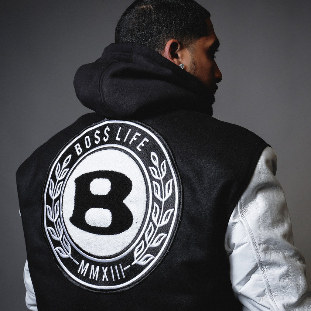 "BossLife ""Circle B"" Letterman Jacket"