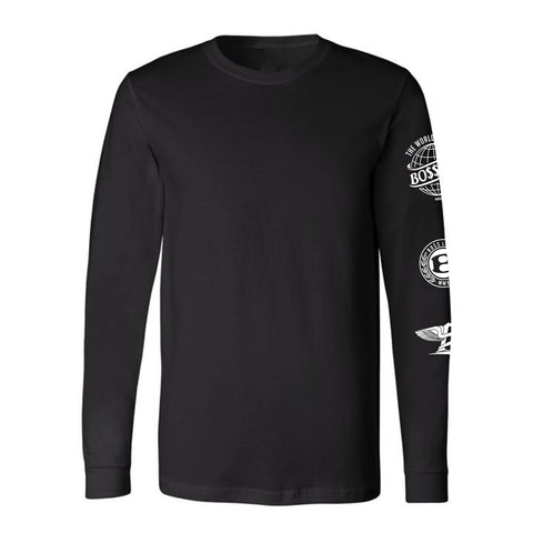 "BossLife ""Logos"" Long Sleeve - Black/White"