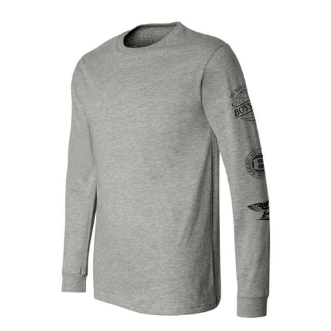 "BossLife ""Logos"" Long Sleeve - Grey/Black"