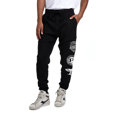 "BossLife ""Logos"" Hoodie + Jogger Set - Black/White"