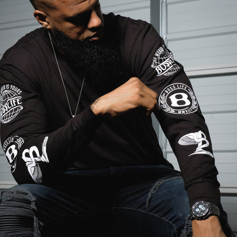 "BossLife ""Logos"" Long Sleeve - Black"