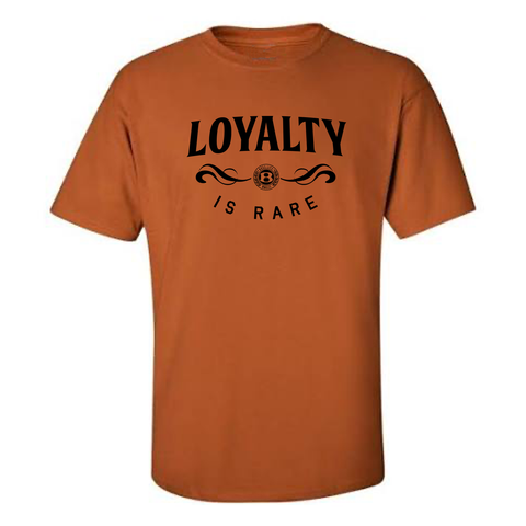 "BossLife ""Loyalty"" Tee - Burnt Orange/Black"