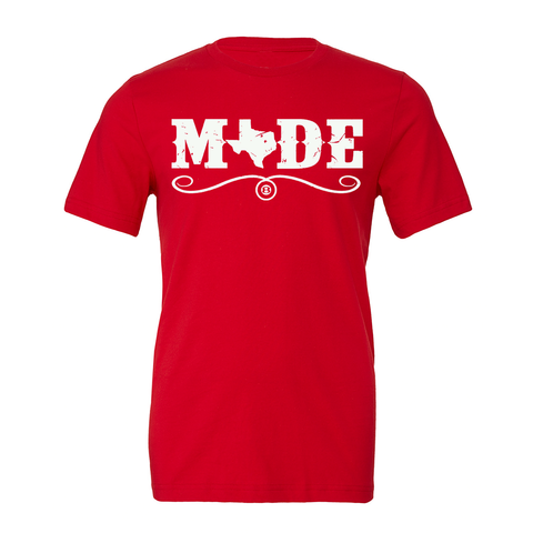 "HoggLife ""Made"" Tee - Red/White"