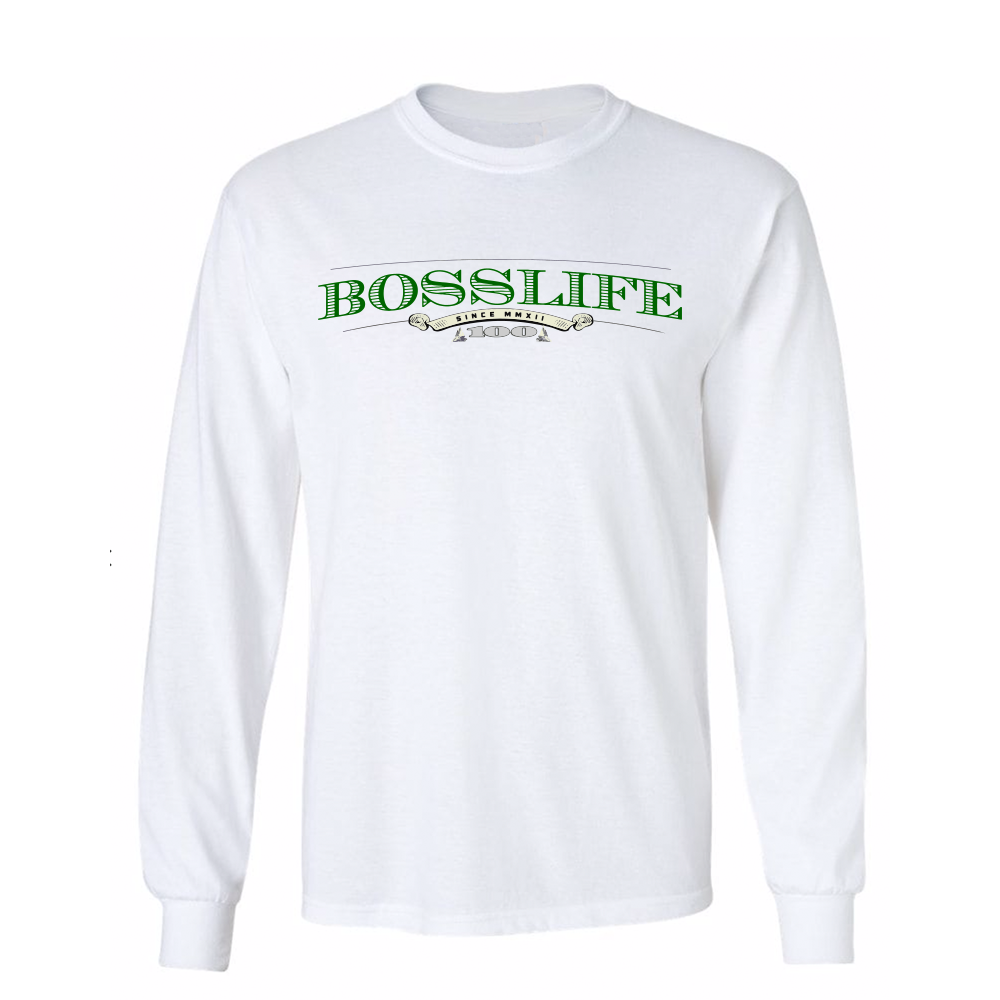 "BossLife ""Money"" Long Sleeve - White/Multi"