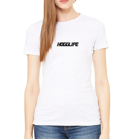 "HoggLife ""Motor"" Women's Tee - White/Black"