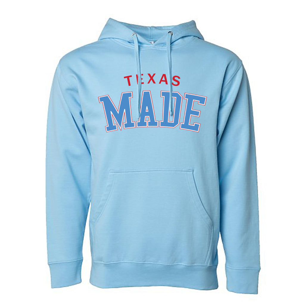 "HoggLife ""Texas Made"" Hoodie - Sky Blue/Multi"