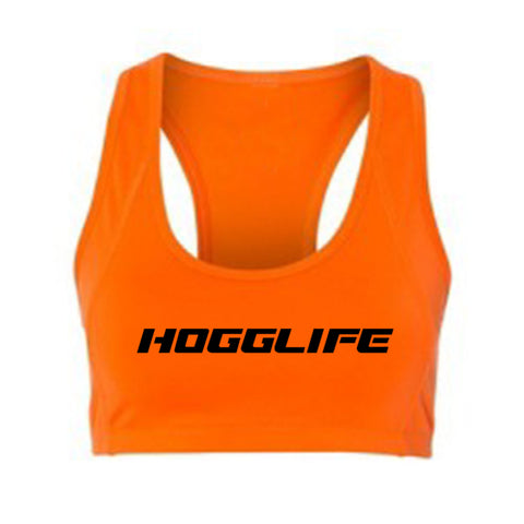 "HoggLife ""Motor"" Sports Bra - Orange/Black"