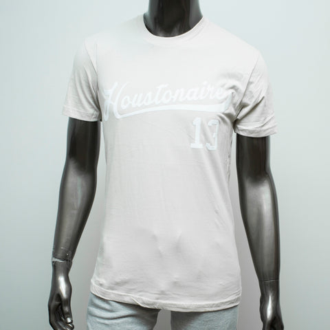 "HoggLife ""Houstonaire"" Tee - Cream/White"