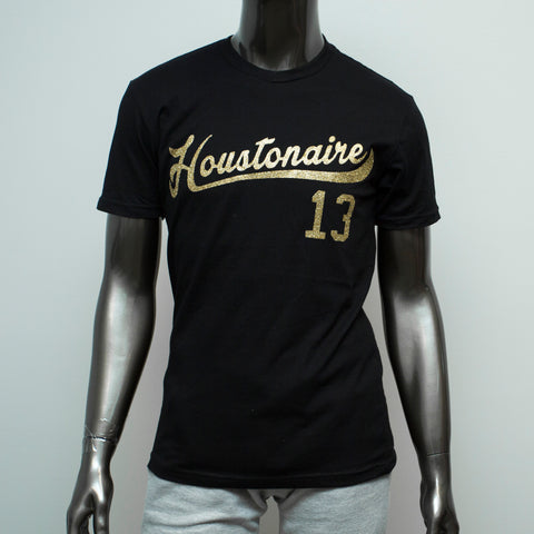 "HoggLife ""Houstonaire"" Tee - Black/Gold"