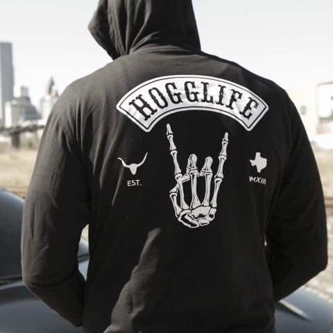 "HoggLife ""Skull"" Hoody - Black/White"