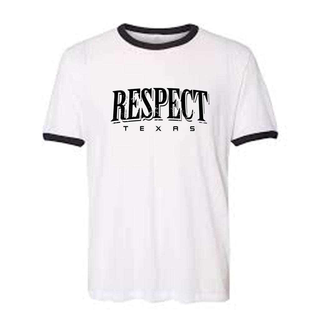 "HoggLife ""Respect"" Ringer Tee - White/Black"