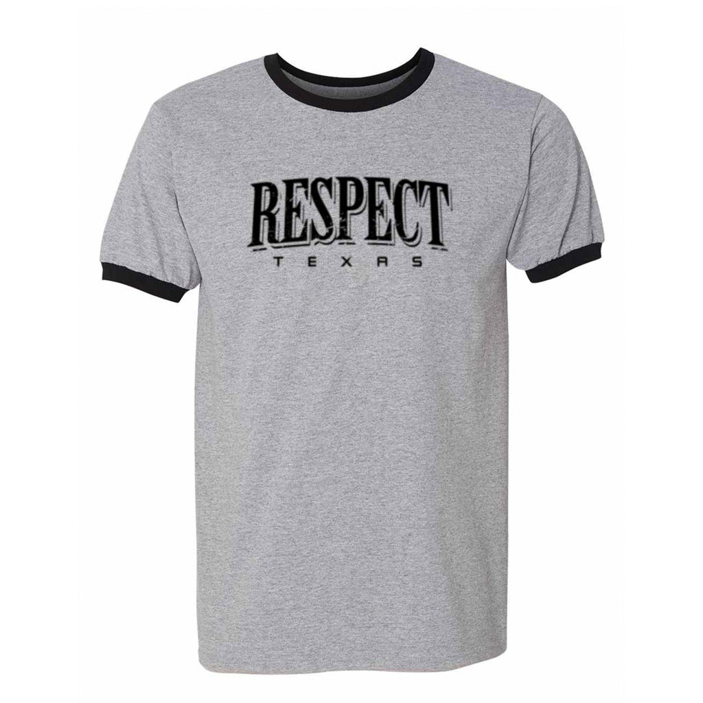 "HoggLife ""Respect"" Ringer Tee - Black/Grey/Black"